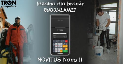 NOVITUS Nano II – kasa idealna dla branży budowlanej!